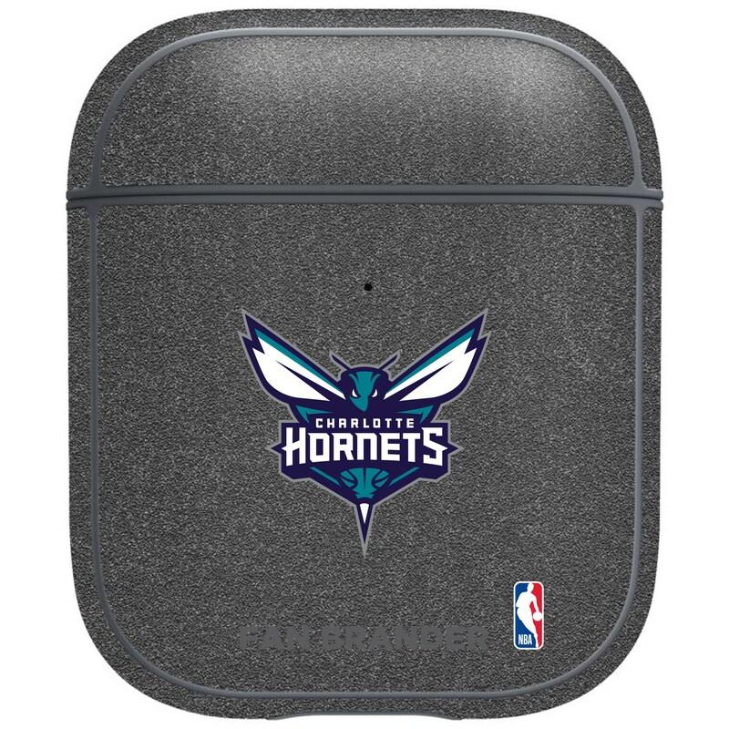 Charlotte Hornets Air Pods Metallic Case - Gray