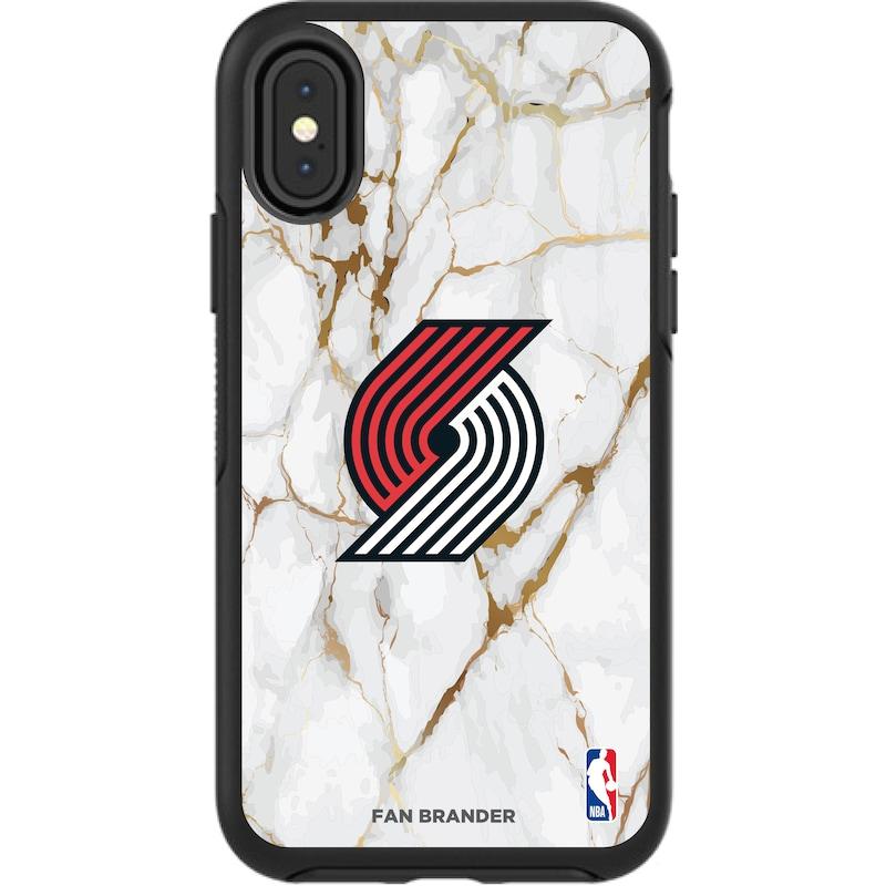 Portland Trail Blazers iPhone Symmetry Marble Case - Black
