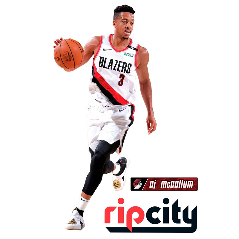 C.J. McCollum Portland Trail Blazers Fathead 3-Pack Life-Size Removable Wall Decal
