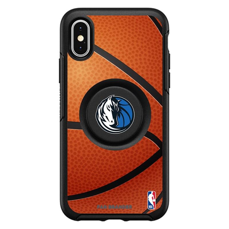 Dallas Mavericks OtterBox Primary Otter+Pop PopGrip Symmetry iPhone Case - Black