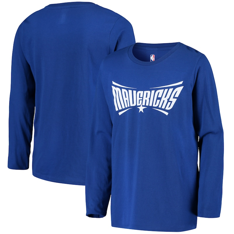 Dallas Mavericks Youth Primary Logo Long Sleeve T-Shirt - Blue