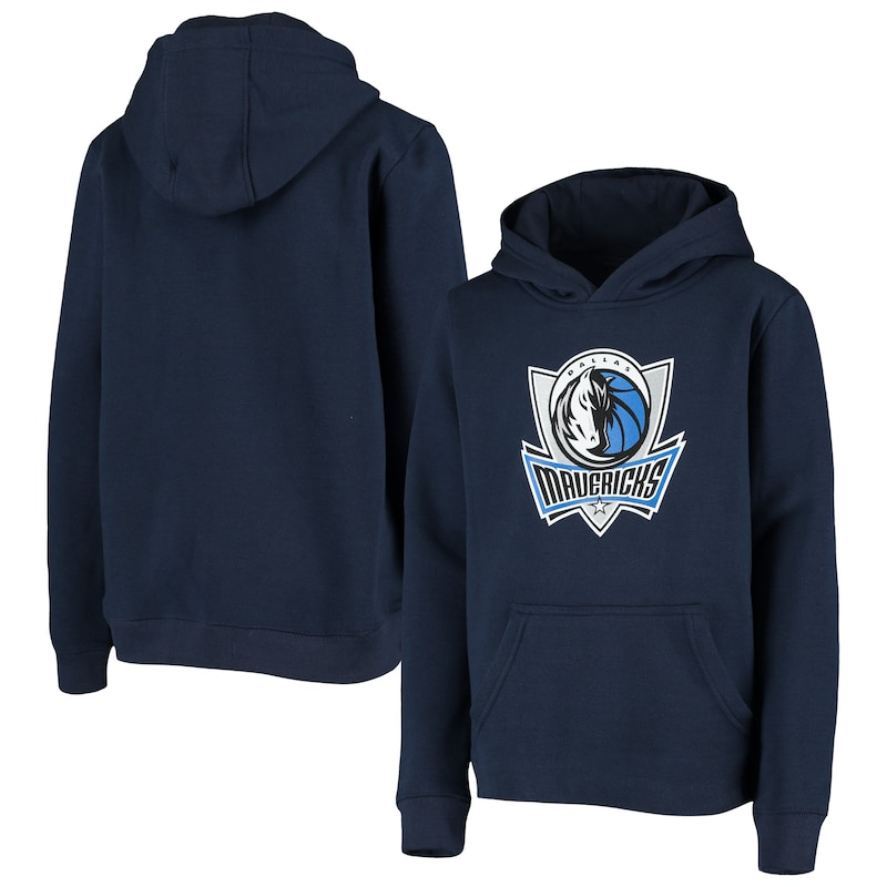 Dallas Mavericks Youth Primary Logo Fleece Pullover Hoodie - Navy