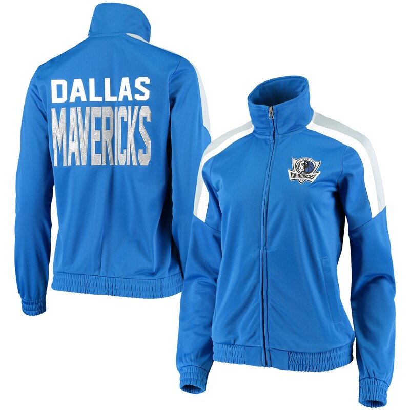 Dallas Mavericks G-III 4Her by Carl Banks Women's Jump Shot Full-Zip Track Jacket - Blue