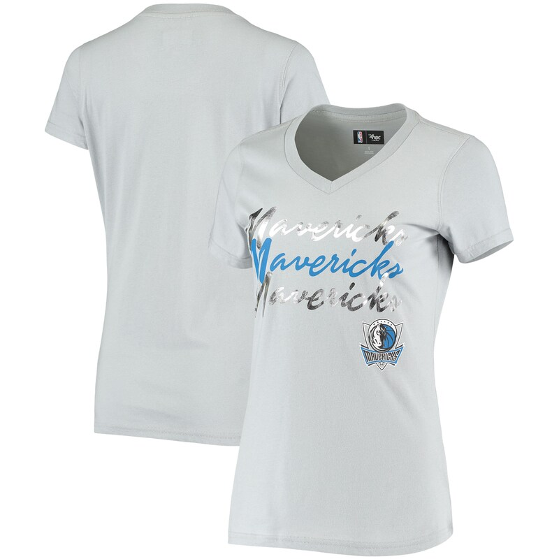 Dallas Mavericks G-III 4Her by Carl Banks Women's Power Forward Foil T-Shirt - Gray