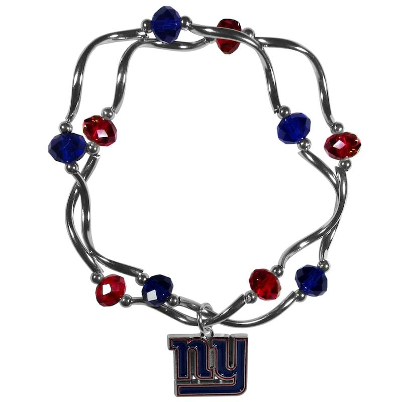 New York Giants Women's Bead Stretch Bracelet