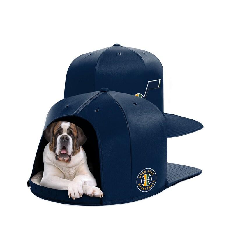 Utah Jazz Large Pet Nap Cap - Navy