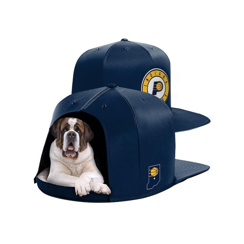Indiana Pacers Large Pet Nap Cap - Navy