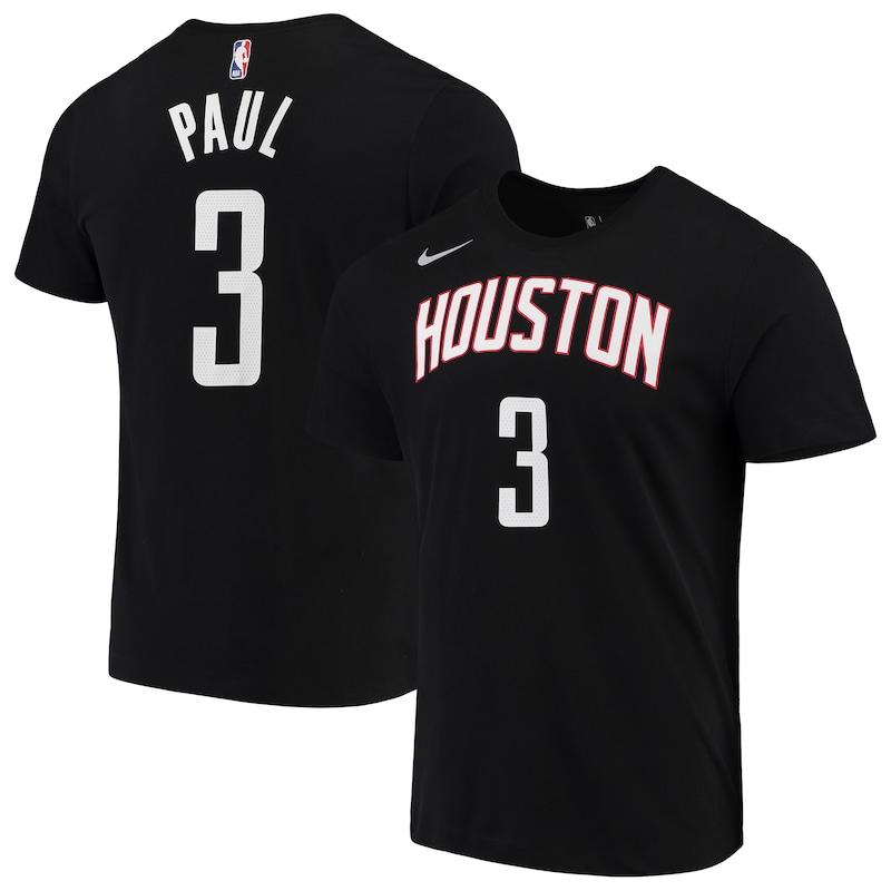 Chris Paul Houston Rockets Nike 2019/2020 Name & Number Performance T-Shirt - Black