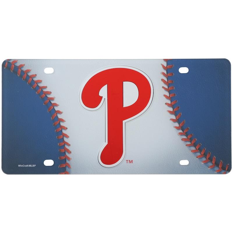 Philadelphia Phillies WinCraft Ball Crystal Mirror License Plate