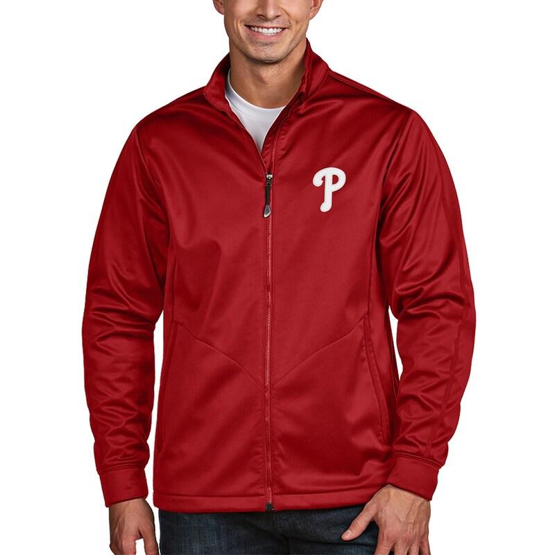 Philadelphia Phillies Antigua Golf Full-Zip Jacket - Red