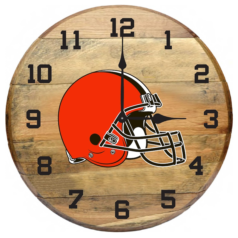 Cleveland Browns Imperial Oak Barrel Clock