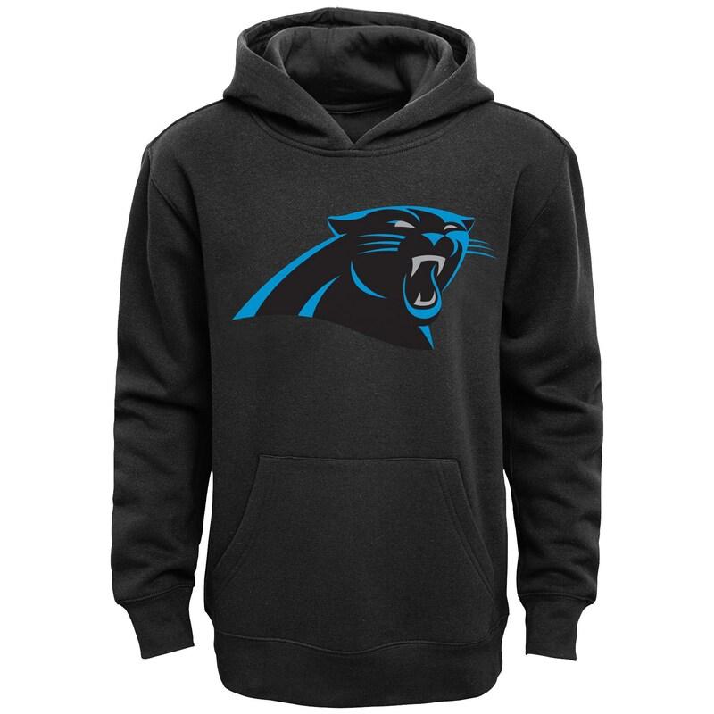 Carolina Panthers Youth Team Logo Pullover Hoodie - Black