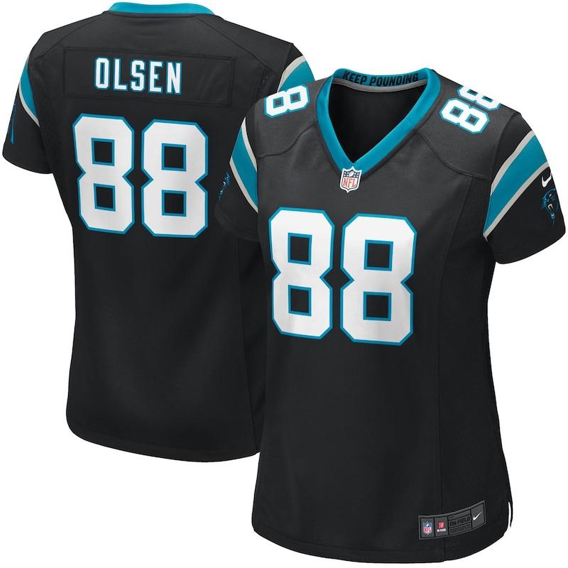 Greg Olsen Carolina Panthers Nike Girls Youth Game Jersey - Black