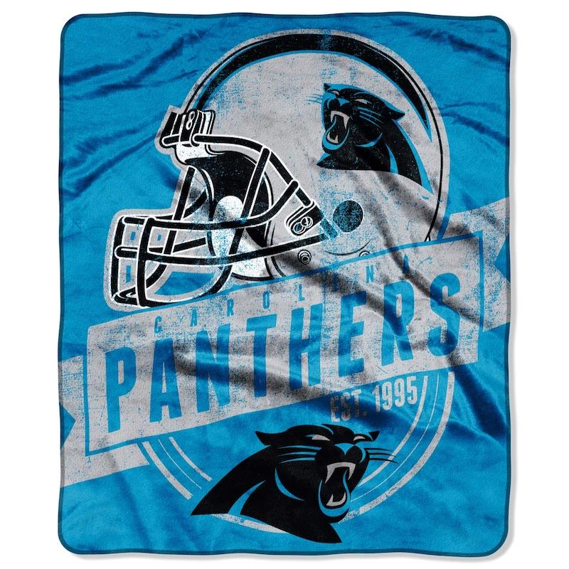 "Carolina Panthers 50"" x 60"" Grand Stand Plush Blanket"