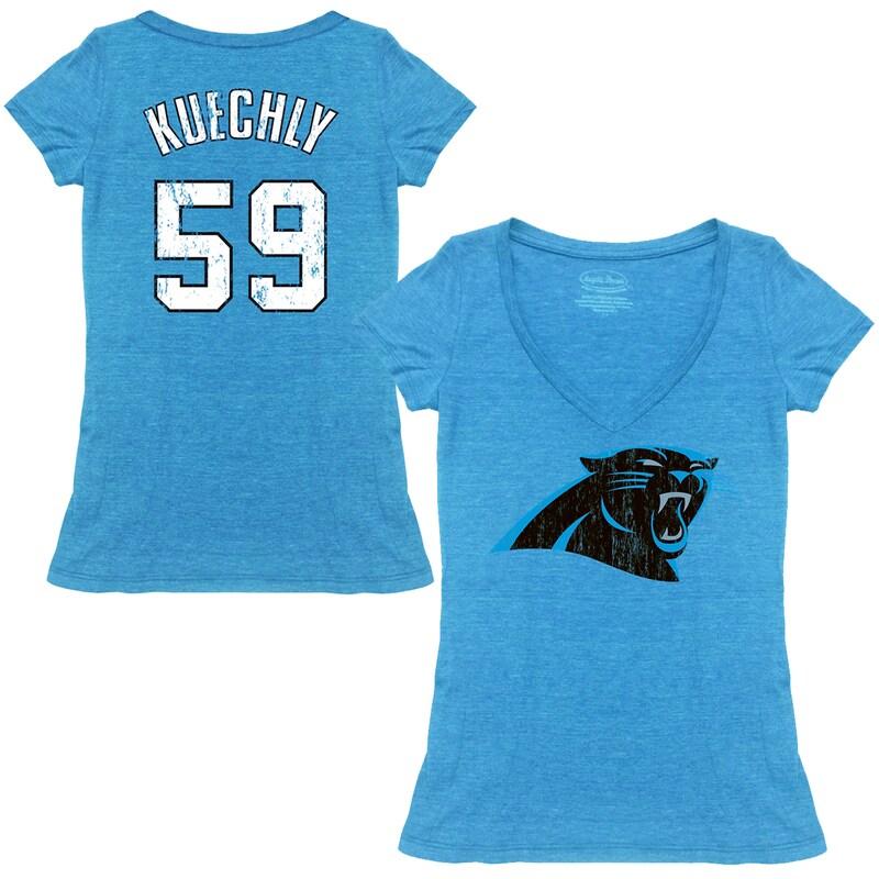 Luke Kuechly Carolina Panthers Tri-Blend Name & Number T-Shirt - Blue