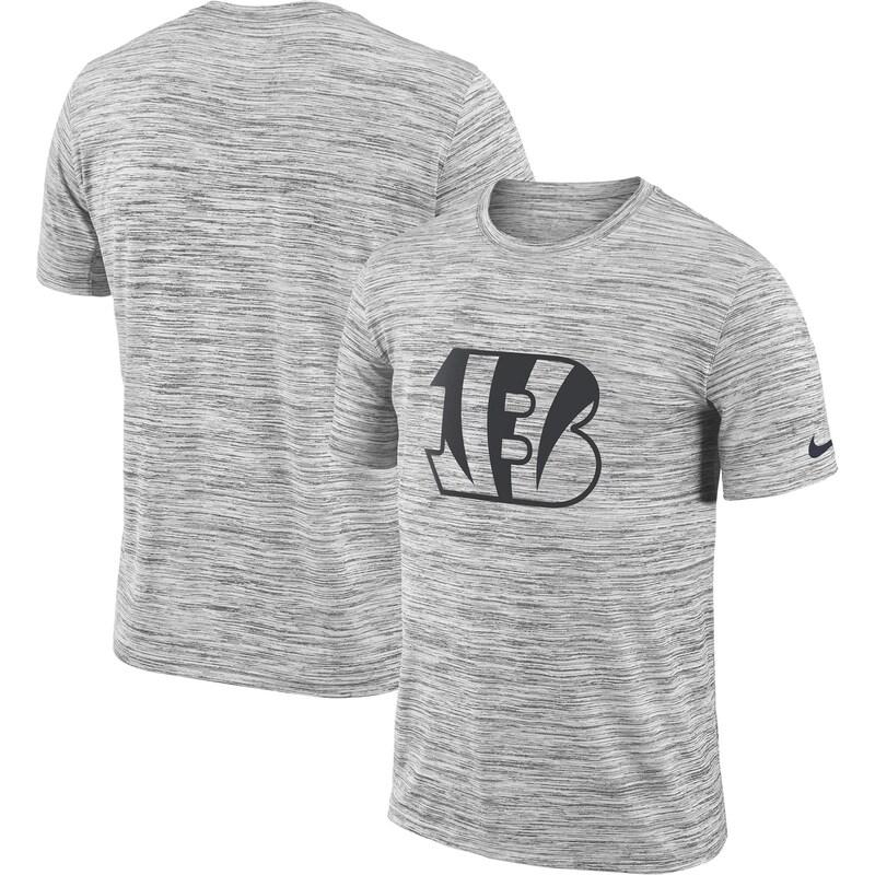 Cincinnati Bengals Nike Sideline Legend Velocity Travel Performance T-Shirt - Heathered Black