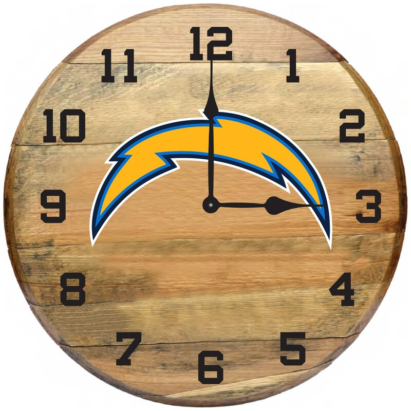 Los Angeles Chargers Imperial Oak Barrel Clock