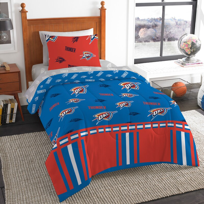 Oklahoma City Thunder The Northwest Company 4-Piece Twin Bed in a Bag Set