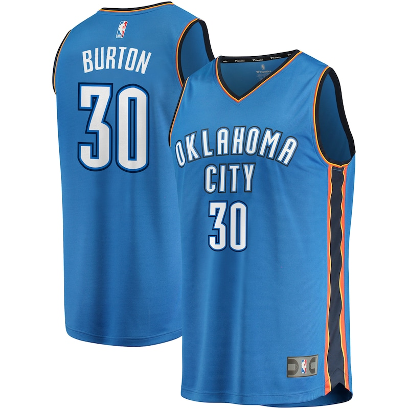 Deonte Burton Oklahoma City Thunder Fanatics Branded Fast Break Replica Jersey - Icon Edition - Blue
