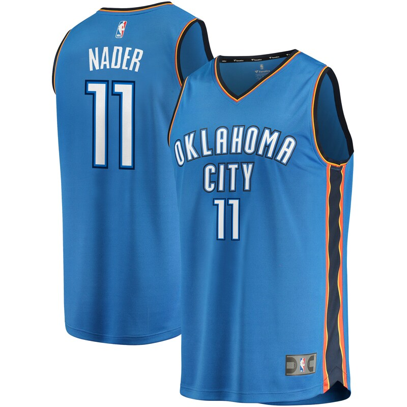 Abdel Nader Oklahoma City Thunder Fanatics Branded Fast Break Replica Jersey - Icon Edition - Blue