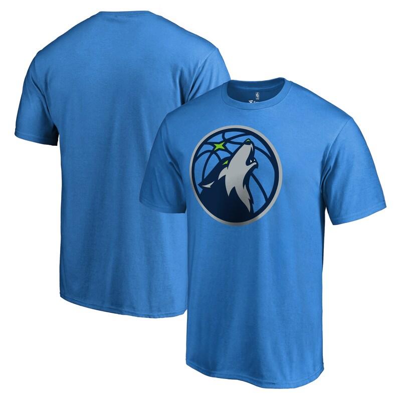 Minnesota Timberwolves Fanatics Branded Primary Logo 2 T-Shirt - Blue