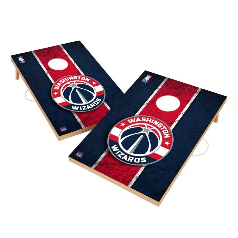 Washington Wizards 2' x 3' Solid Wood Cornhole Board Tailgate Toss Set
