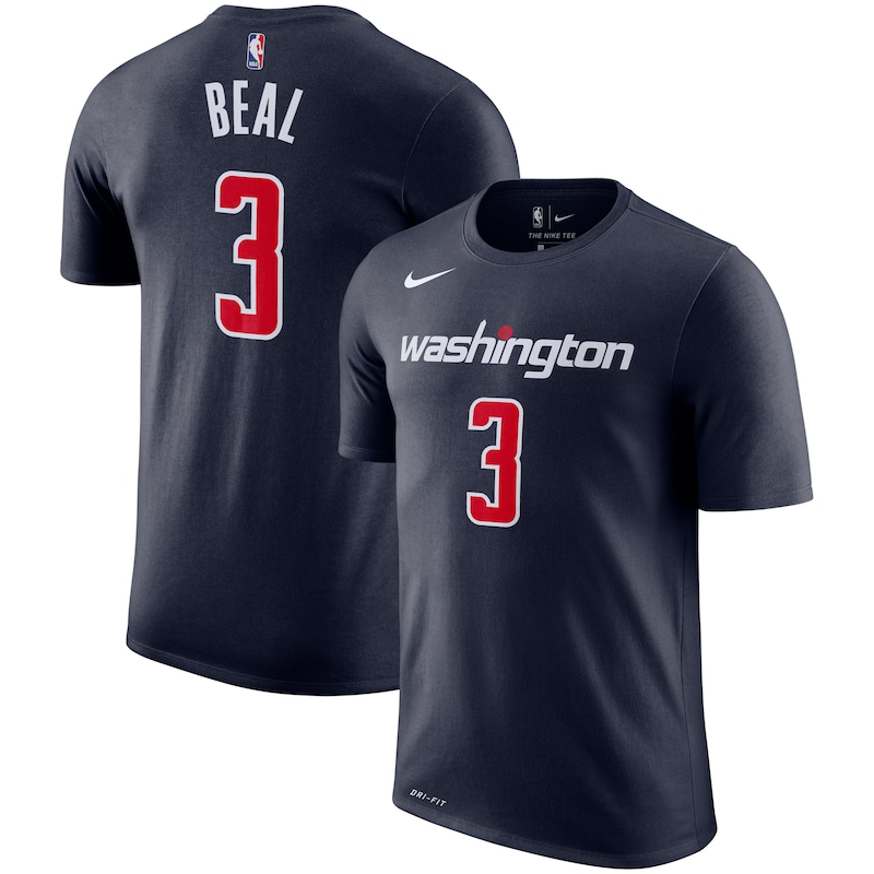 Bradley Beal Washington Wizards Nike Name & Number Performance T-Shirt - Navy