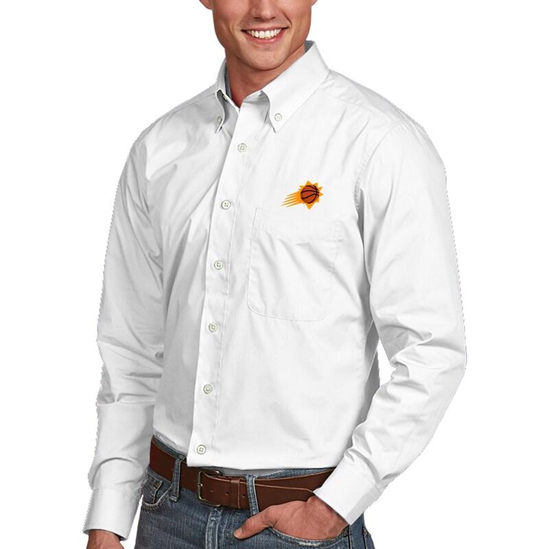 Phoenix Suns Antigua Dynasty Button-Down Long Sleeve Shirt - White