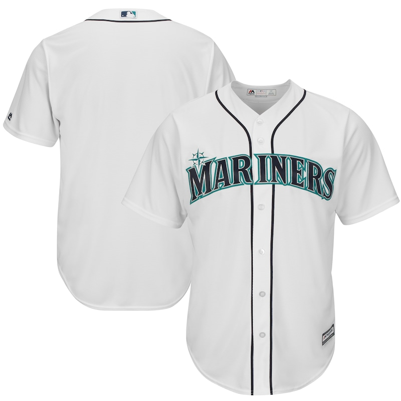 Seattle Mariners Majestic Official Cool Base Jersey - White