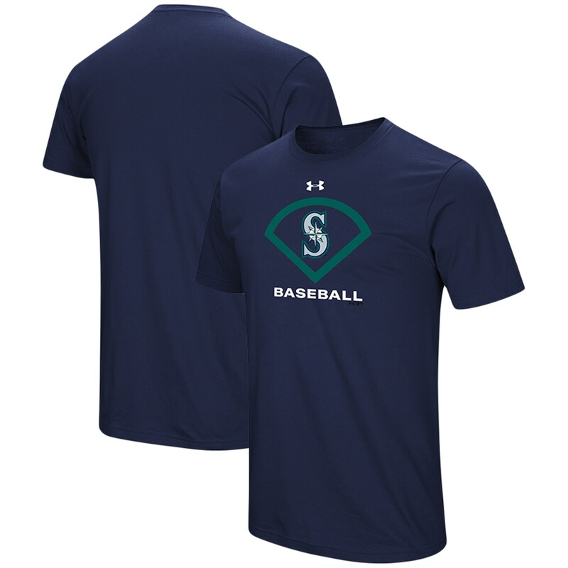Seattle Mariners Under Armour Performance Icon T-Shirt - Navy