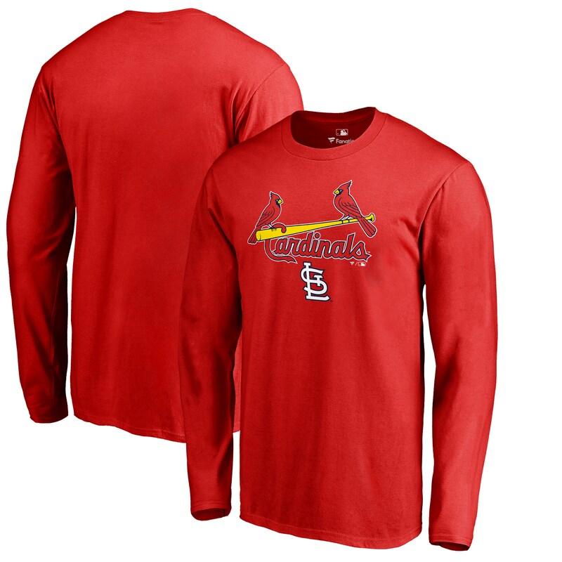 St. Louis Cardinals Fanatics Branded Big & Tall Team Lockup Long Sleeve T-Shirt - Red