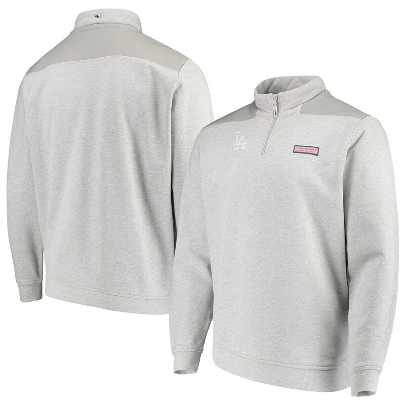Los Angeles Dodgers Vineyard Vines Shep Shirt Quarter-Zip Pullover Jacket - Gray