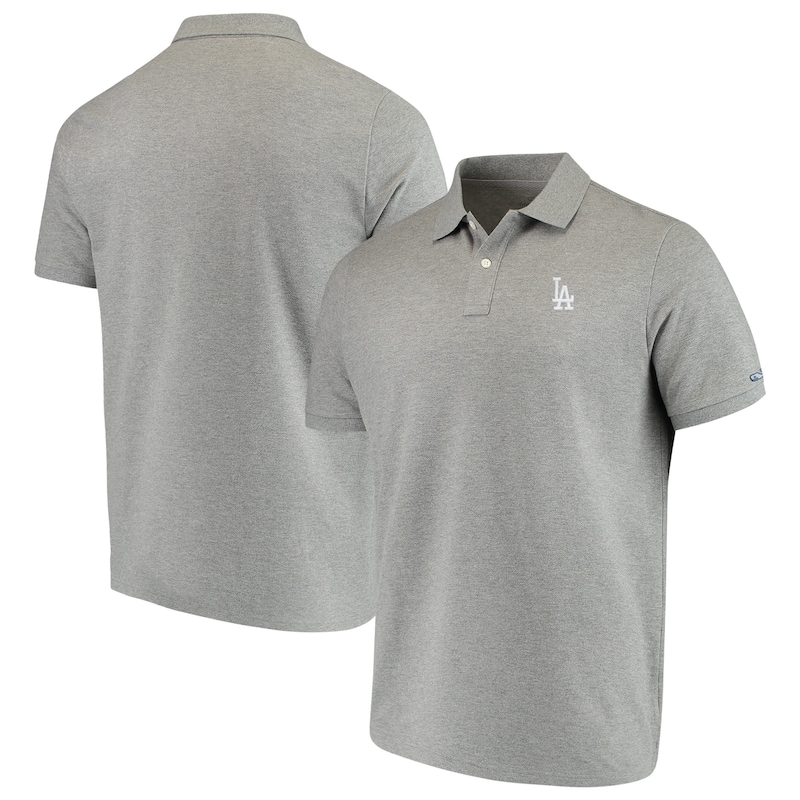 Los Angeles Dodgers Vineyard Vines Stretch Pique Polo - Heathered Gray