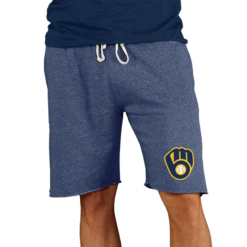 Milwaukee Brewers Concepts Sport Mainstream Terry Shorts - Navy