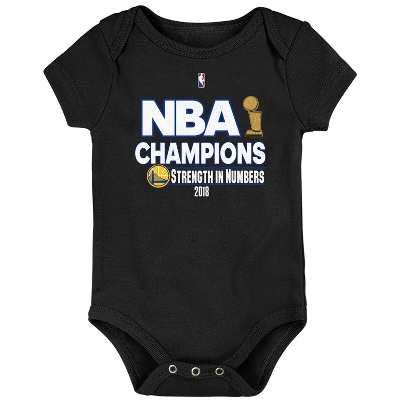 Golden State Warriors Newborn 2018 NBA Finals Champions Strength In Numbers Bodysuit - Black