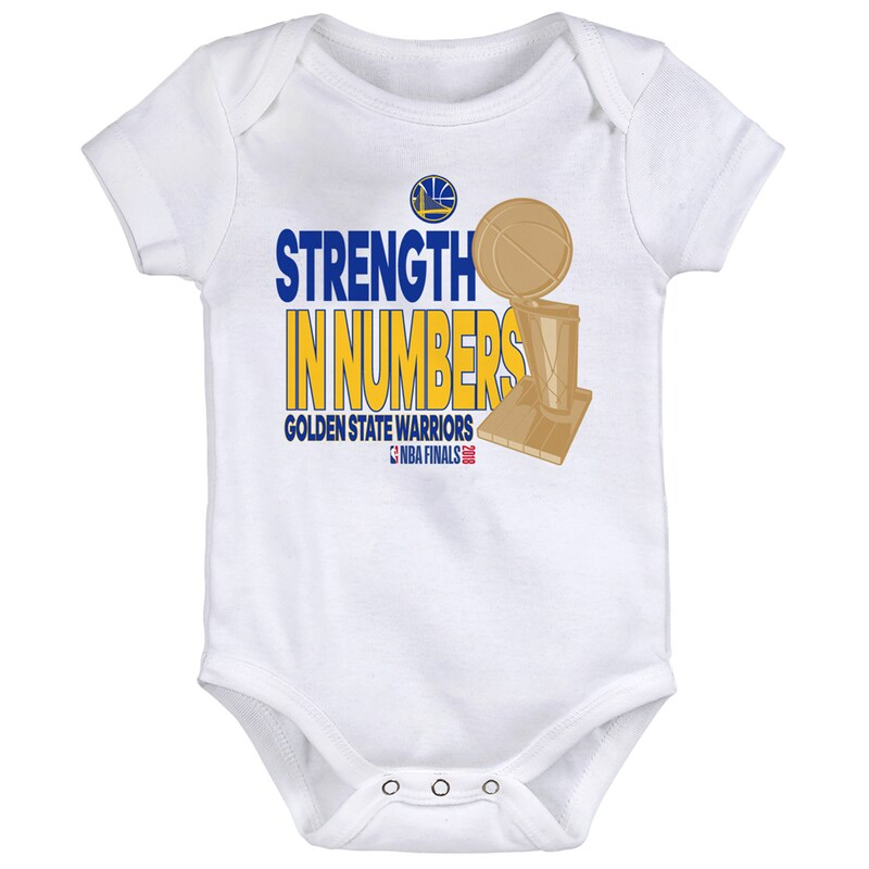 Golden State Warriors Newborn 2018 NBA Finals Champions Parade Bodysuit - White