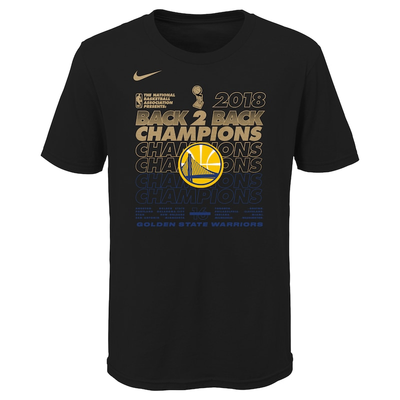 Golden State Warriors Nike Youth 2018 NBA Finals Champions Locker Room T-Shirt - Black