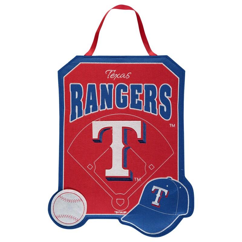 """Texas Rangers 20.5"""" x 16.5"""" Felt Door Decor Banner"""