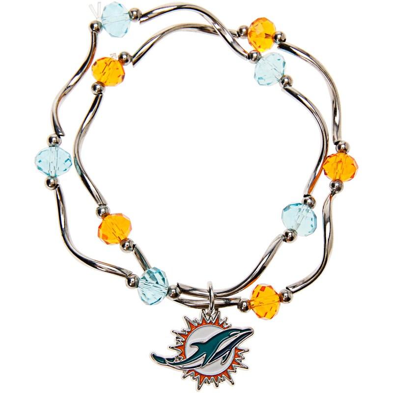 Miami Dolphins Women's Bead Stretch Bracelet