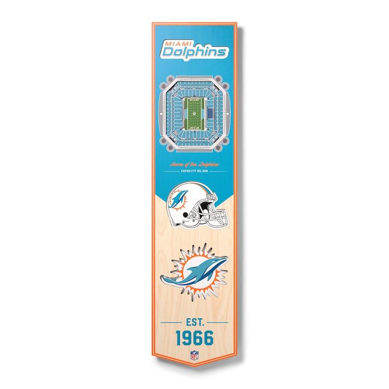 Miami Dolphins 8'' x 32'' 3D StadiumView Banner