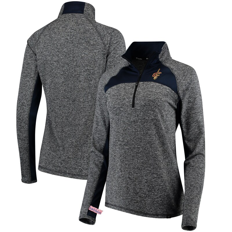 Cleveland Cavaliers Fanatics Branded Women's Static Quarter-Zip Pullover Jacket - Heathered Gray