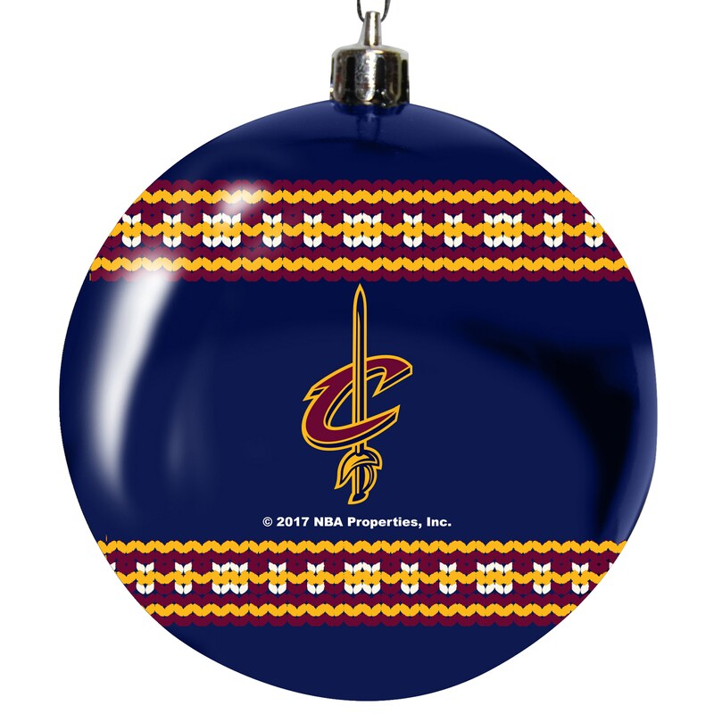 """Cleveland Cavaliers 3"""" Plastic Sweater Ball Ornament"""