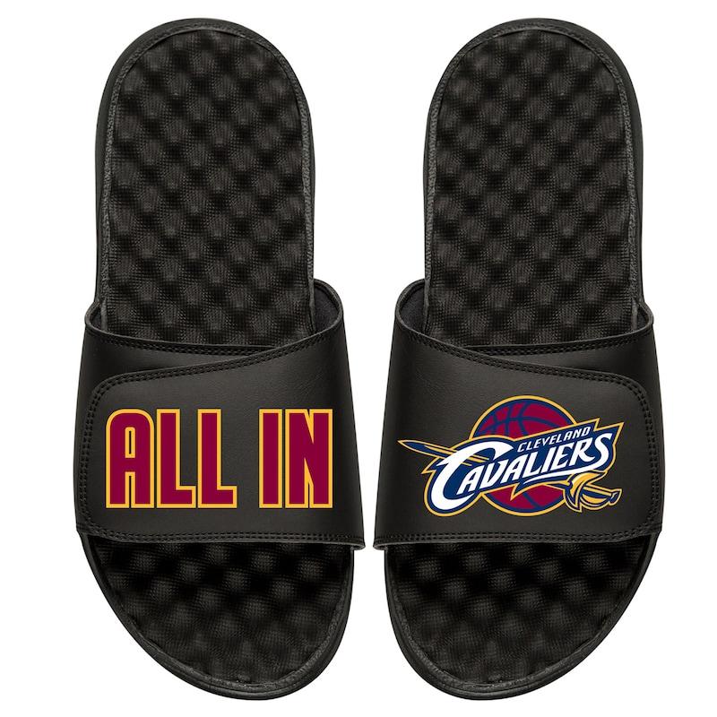Cleveland Cavaliers ISlide Youth Team Slogan Slide Sandals - Black