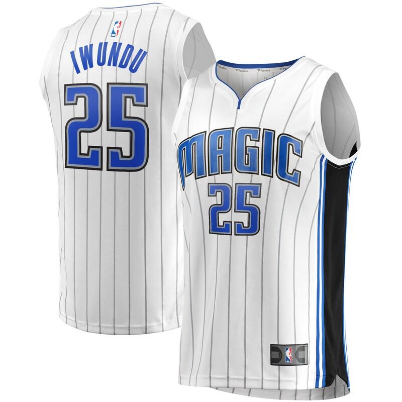 Wesley Iwundu Orlando Magic Fanatics Branded Fast Break Replica Player Team Jersey - Association Edition - White