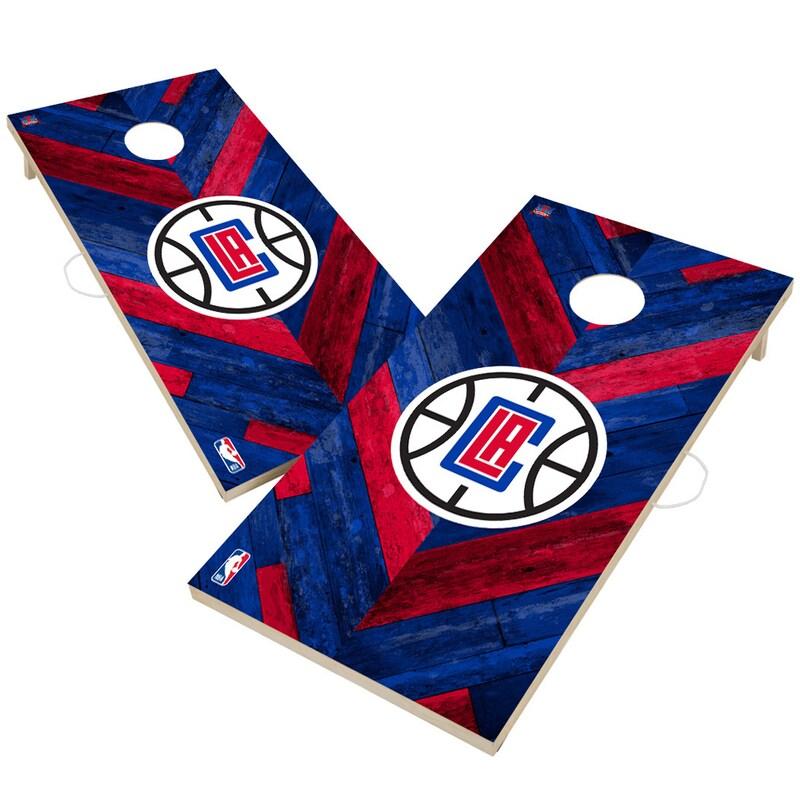 LA Clippers 2' x 4' Herringbone Design Cornhole Set