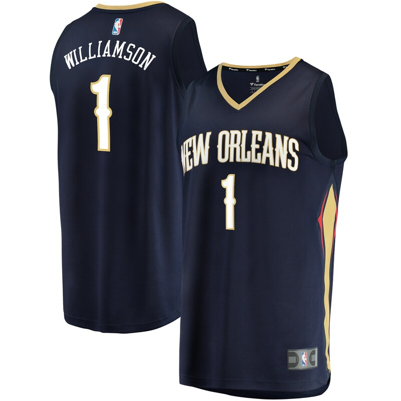Zion Williamson New Orleans Pelicans Fanatics Branded 2019 NBA Draft First Round Pick Fast Break Replica Jersey Navy - Icon Edition