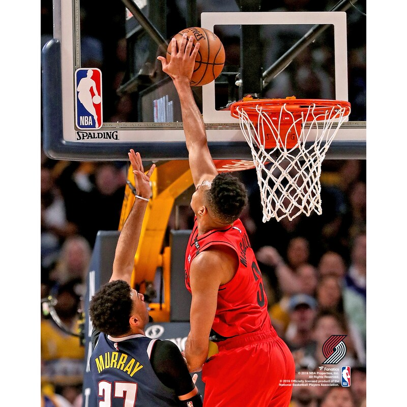 C.J. McCollum Portland Trail Blazers Fanatics Authentic Unsigned Block vs. Denver Nuggets Photograph