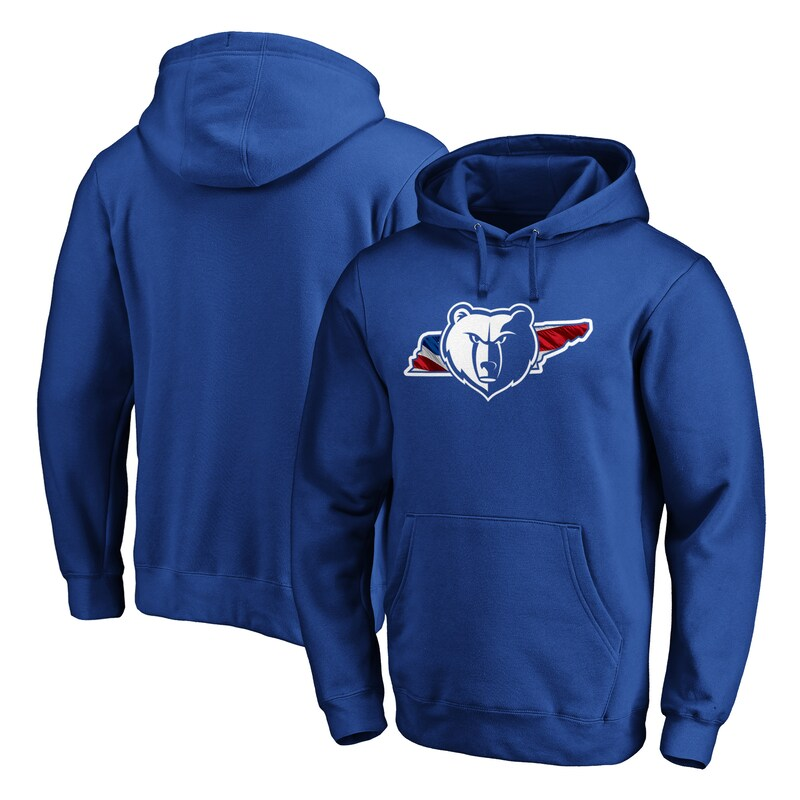 Memphis Grizzlies Fanatics Branded Banner State Pullover Hoodie - Royal