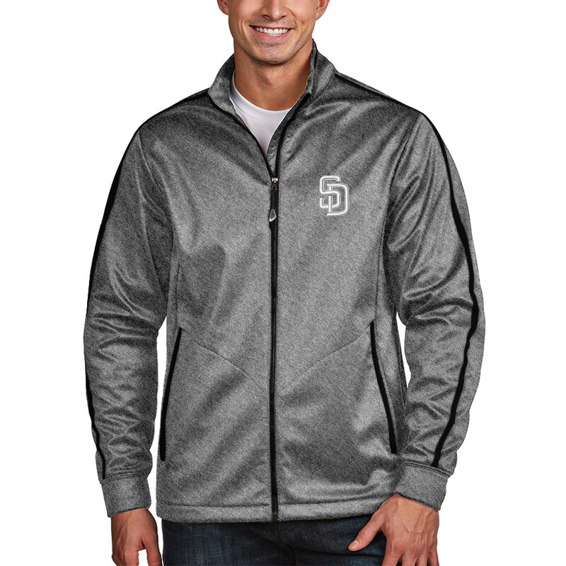 San Diego Padres Antigua Golf Full-Zip Jacket - Charcoal -