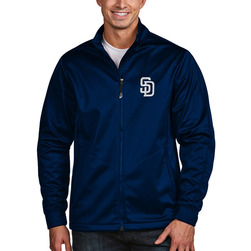 San Diego Padres Antigua Golf Full-Zip Jacket - Navy